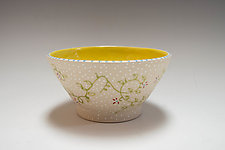 Thrown Botanical Bowl by Vaughan Nelson (Ceramic Bowl)