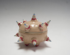 Neutral Urchin Container by Vaughan Nelson (Ceramic Box)