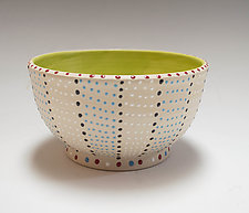 Wheel Thrown Stripe Bowl by Vaughan Nelson (Ceramic Bowl)