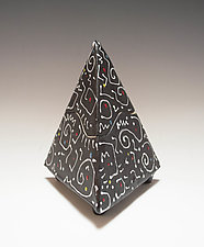 White Squiggle Box by Vaughan Nelson (Ceramic Box)