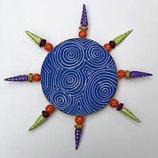 Blue Optix Sun by Vaughan Nelson (Ceramic Wall Sculpture)