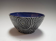 Wheel Thrown Optix Bowl by Vaughan Nelson (Ceramic Bowl)