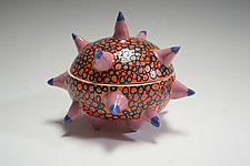 Orange Urchin Container by Vaughan Nelson (Ceramic Box)
