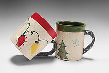 Holiday Mugs II by Vaughan Nelson (Ceramic Mug)