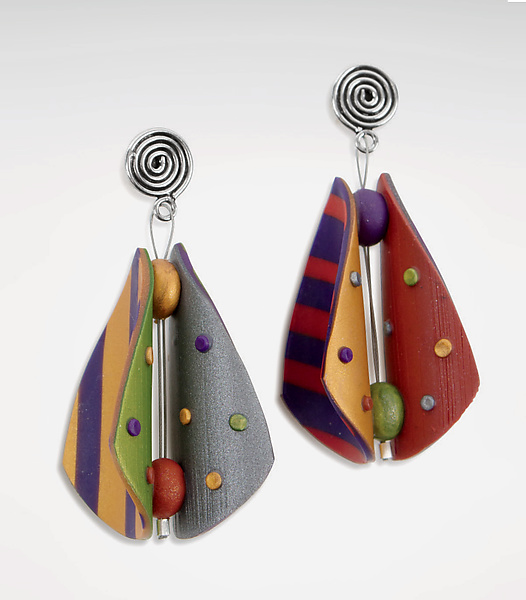 Wings Teardrop Earrings - Primary Mix