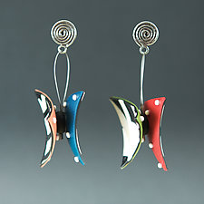 Wings Triangle by Arden Bardol (Polymer Clay Earrings)