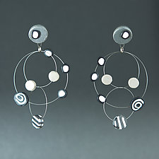 Chandler Wire Black Mix I by Arden Bardol (Steel & Polymer Clay Earrings)