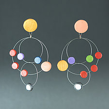 Chandelier Wire Multi I by Arden Bardol (Steel & Polymer Clay Earrings)