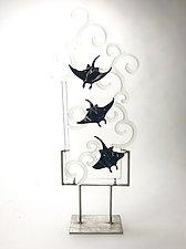 Slipping Away by Jennifer Caldwell (Art Glass Sculpture)