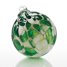 Snow Forest by Elias Studios (Art Glass Ornament)