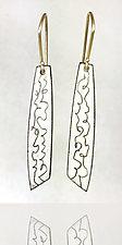 Imaginary Cursive Earrings by Beth Novak (Copper and Enamel Earrings)