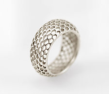Open Snakeskin Ring by Rachel Atherley (Silver Ring)
