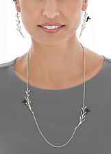 Pod Vine with Flying Bird Jewelry by Lisa  Cimino (Silver Jewelry)