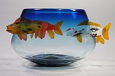 Koi Bowl by David Leppla (Art Glass Bowl)
