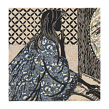 Reflection by Ouida  Touchon (Linocut Print)