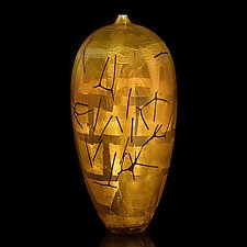Gold Vessel by Fred Kaemmer (Art Glass Sculpture)