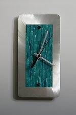 Aluminum Mini Shelf Clock by Linda Lamore (Painted Metal Clock)