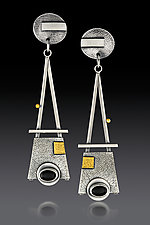 Onyx Tower Earrings by Michele LeVett (Gold, Silver & Stone Earrings)
