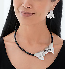 Stingray Leather and Scale Necklace by Lauren Blais (Silver & Leather Jewelry)
