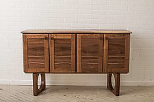 Black Walnut Sideboard by Steve Uren (Wood Sideboard)