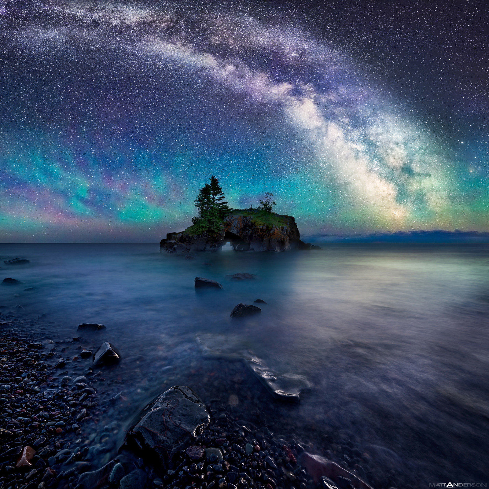 At Home Decor Milky Way Over Hollow Rock By Matt Anderson Color
