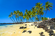 Mahaiula Beach by Matt Anderson (Color Photograph on Aluminum)