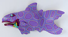 Purple Razzmatazz by Byron Williamson (Ceramic Wall Sculpture)