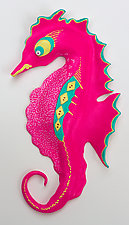 Miss Pink Pizzazz by Byron Williamson (Ceramic Wall Sculpture)