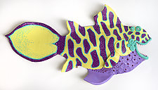 Purple Belly Pampano by Byron Williamson (Ceramic Wall Sculpture)