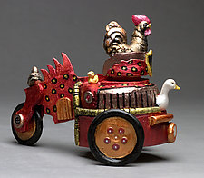 Chicken Car by Byron Williamson (Ceramic Sculpture)