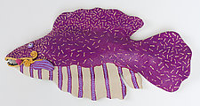 Miss Purple Surprise by Byron Williamson (Ceramic Wall Sculpture)