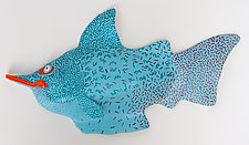 Orange Lipped Dazzler by Byron Williamson (Ceramic Wall Sculpture)