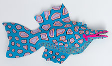 Mighty Pink Lips by Byron Williamson (Ceramic Wall Sculpture)