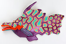Purple Spike by Byron Williamson (Ceramic Wall Sculpture)