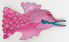 Pretty Pink Pizazz by Byron Williamson (Ceramic Wall Sculpture)