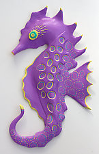 Stupendous Seahorse by Byron Williamson (Ceramic Wall Sculpture)