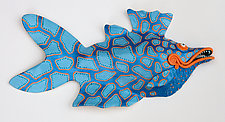 Orange-Lipped Pongo by Byron Williamson (Ceramic Wall Sculpture)