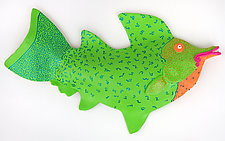 Emerald Tottle by Byron Williamson (Ceramic Wall Sculpture)