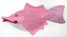 Pretty Polly Pinkfish by Byron Williamson (Ceramic Wall Sculpture)