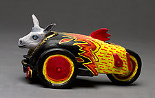 Mule Racer by Byron Williamson (Ceramic Sculpture)