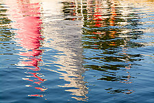 Sailboat Abstract by Cindy A. Stephens (Color Photograph)