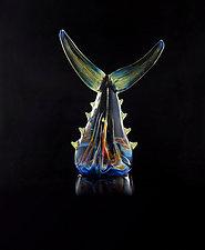 Fish Tails by Jeremy Sinkus (Art Glass Sculpture)