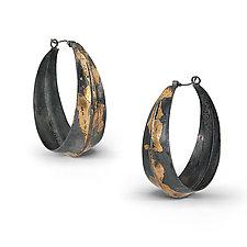 Keum-Bo Hoops by Shauna Burke (Gold & Silver Earrings)