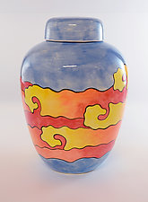 Yellow Submarine Jar by Rod  Hemming (Ceramic Vessel)