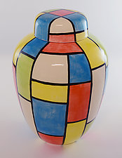 Square Dance Jar by Rod  Hemming (Ceramic Vessel)