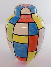 Square Dance Jar by Rod  Hemming (Ceramic Vessel)