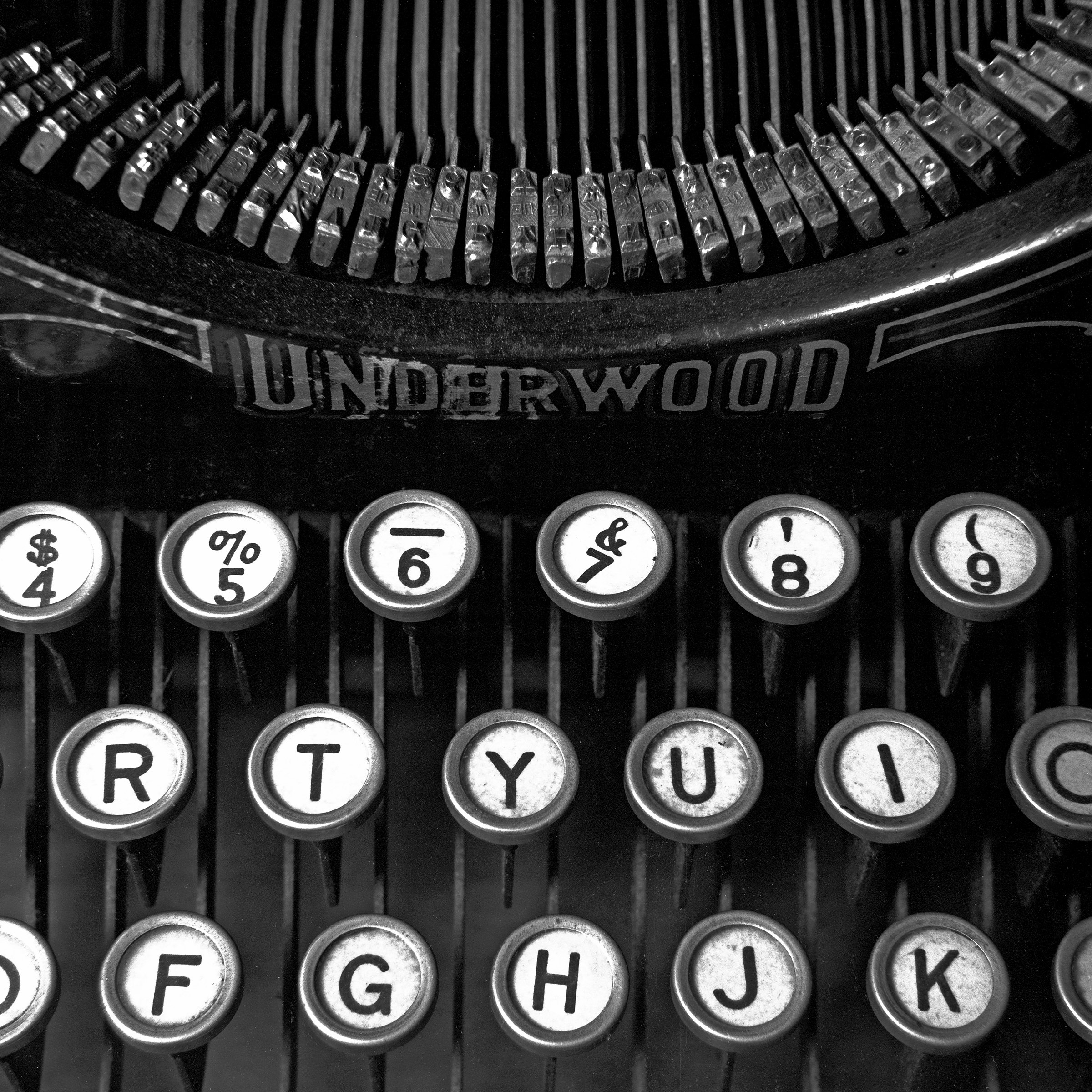 Old Typewriter Keyboard By Russ Martin Black Amp White