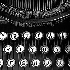 Old Typewriter Keyboard by Russ Martin (Black & White Photograph)