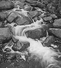 Mountain Stream by Russ Martin (Black & White Photograph)
