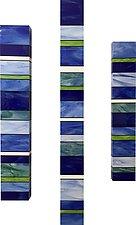 Water Totems by Gerald Davidson (Art Glass Wall Sculpture)